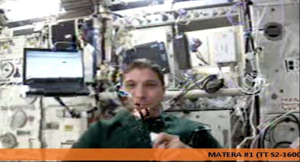 ISS HamTV screenshot by Stefan VE4NSA March 8, 2014