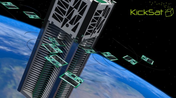 KickSat deploying Sprite satellites - Image by Ben Bishop VK2FBRB