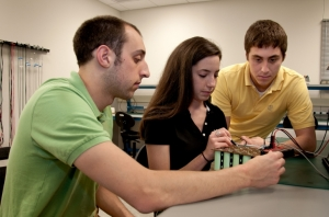 Penn State Behrend students working on supercapacitor satellite battery - Image John Fontecchio