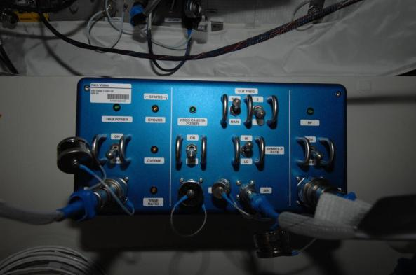 HamTV Transmitter in the ISS Columbus Module