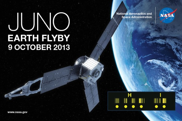 Juno Spacecraft QSL Card October 9, 2013