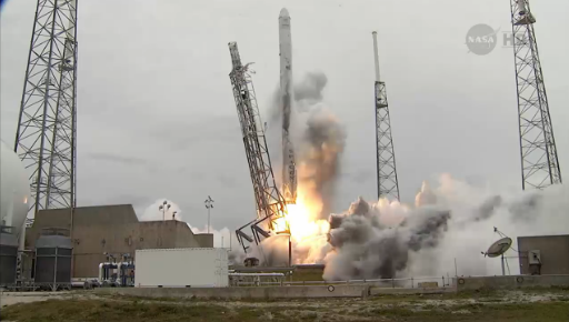 Lift-off of SpaceX CRS-3 with five CubeSats and 104 Sprite satellites
