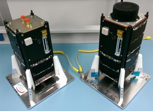 QB50p1 and QB50p2 Precursor 2U CubeSats - Image Credit ISIS