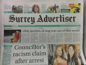 Surrey EARS in Surrey Advertiser May 16