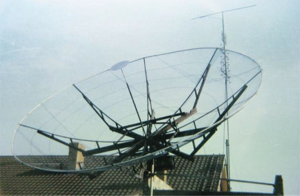15 foot (4.5m) Moon bounce dish used by Peter Blair G3LTF in 1964