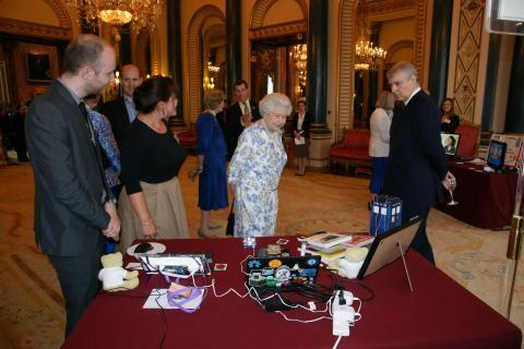 Her Majesty Queen Elizabeth II is shown M0RPI's 434 MHz High Altitude Balloon Payload
