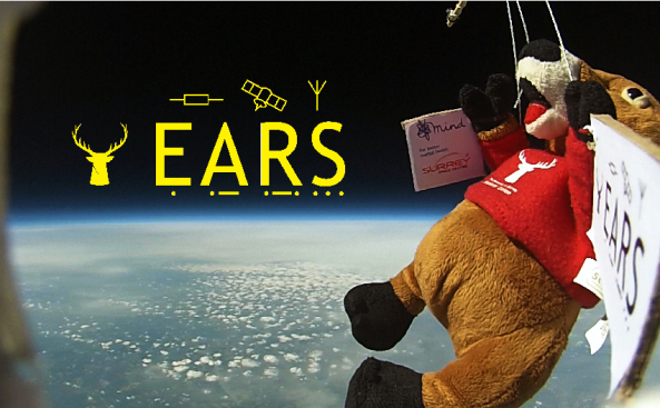 Surrey EARS - Mascot Stevie Stag in Near-Space