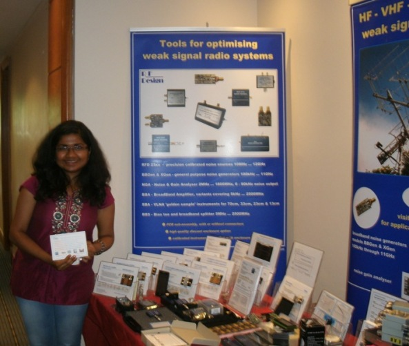 A delegate from the University of Surrey at the AMSAT-UK International Space Colloquium, Guildford