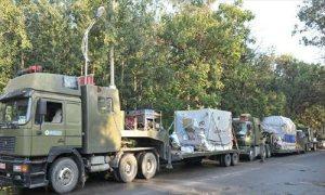 Delivery convoy - Image credit Xinhua