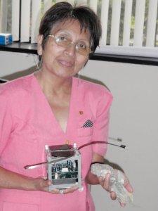 Engineer Ing. Margarita Mondragon and Chasqui-1