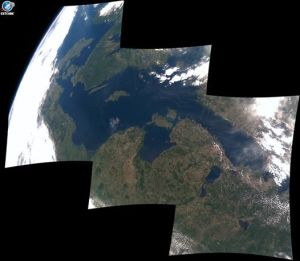 ESTCube-1 image of Estonia and its neighbours