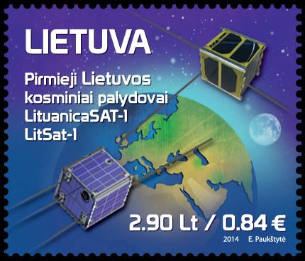 LituanicaSAT-1 and LitSat-1 postage stamp