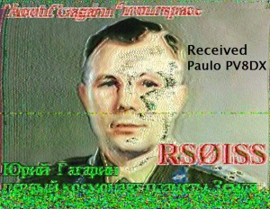 ISS SSTV image received by Paulo PV8DX