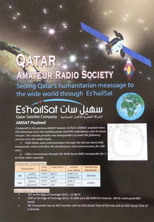 Qatar Amateur Radio Society Geostationary Transponders Leaflet Page 1