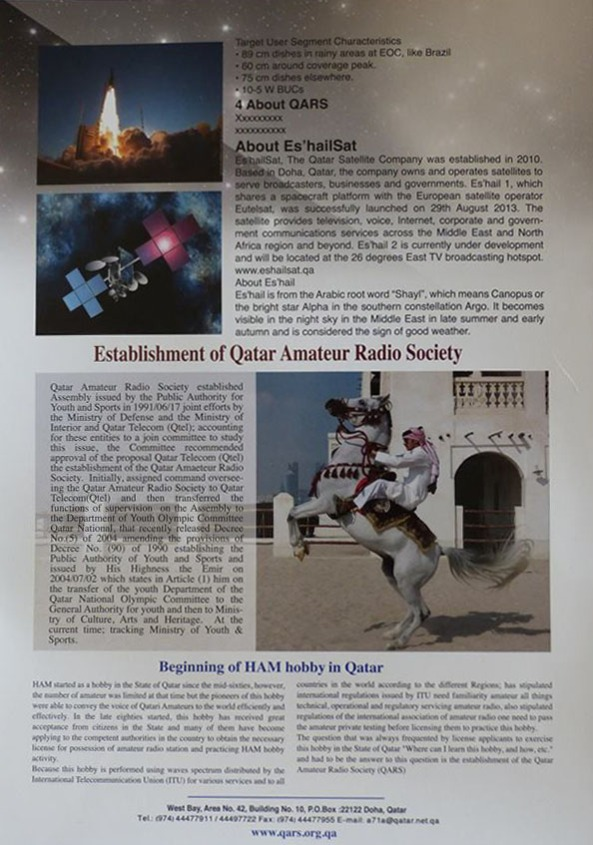 Qatar Amateur Radio Society Geostationary Transponders Leaflet Page 2