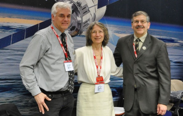 ARISS 2015-2016 Officers (L-R) ARISS Vice-Chair Oliver Amend, DG6BCE; ARISS Secretary-Treasurer Rosalie White, K1STO, and ARISS Chair Frank Bauer, KA3HDO
