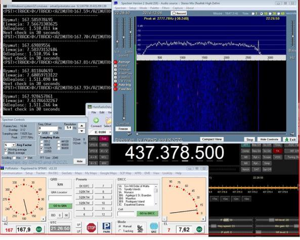 Shin'en2 signal received at 1,511,246 km on December 6, 2014