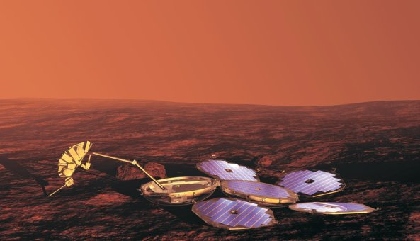 Illustration of the UK Beagle 2 lander on Mars - Credit ESA