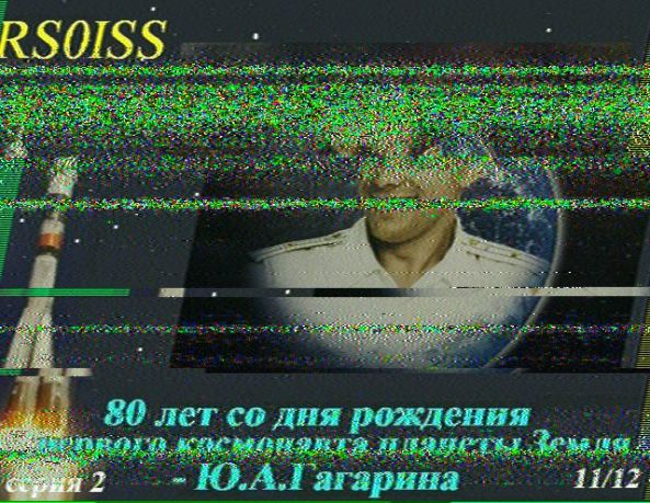 ISS SSTV image 11 received by Sally Dixon G7UCL at 2045 UT Jan 31, 2015 using tri-band omni antenna with FT-897