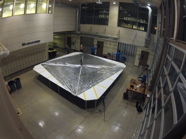 LightSail-1 with sail deployed - Credit Justin Foley KI6EPH