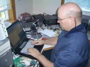 Bob McGwier N4HY writing code for the amateur satellite P3E
