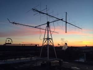 Ground station antennas - Credit Michigan Exploration Laboratory