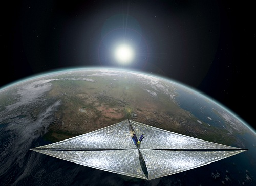 Artists impression of LightSail