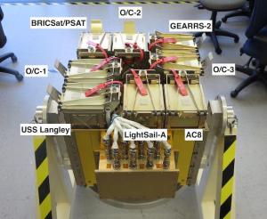 CubeSats in UltraSat Deployer - Image Credit NRO