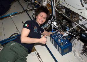 Samantha Cristoforetti IZ0UDF with ISS HamTV Transmitter