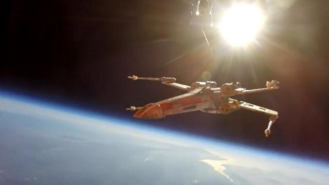 X-Wing in Space - Image Credit Essex Space Agency