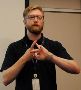 Dr Chris Bridges 2E0OBC of the Surrey Space Centre - Credit DK3WN