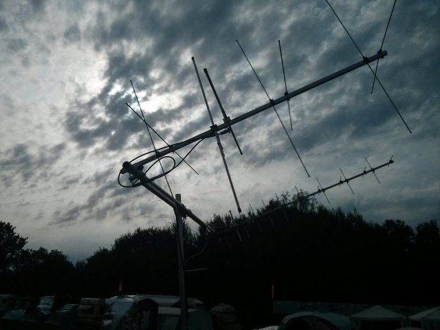 Antennas at Chaos Computer Camp 2015 - Credit Daniel Cussen EI9FHB