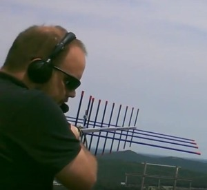 Dave Swanson KG5CCI with Arrow dual-band antenna
