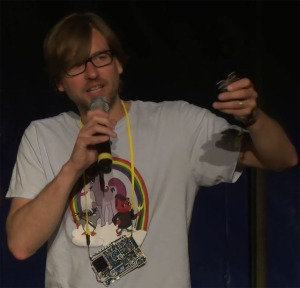 Michael Ossmann AD0NR at Chaos Computer Camp 2015