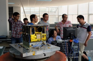 LilacSat-2 and some of the team
