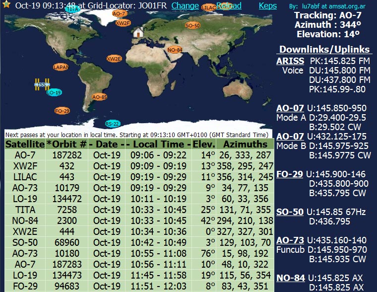 Lu7abf online satellite orbital predictions amsat uk on the amsat bulletin board pedro converso lu7abf has posted the following information about his online satellite orbital pass prediction app gumiabroncs Choice Image