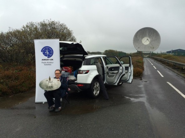 While at Goonhilly Graham Shirville G3VZV received ISS HamTV on 2395 MHz with a 60cm dish