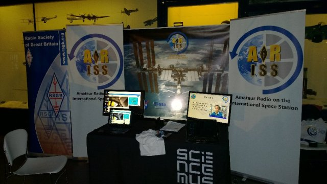 ARISS stand at the London Science Museum Tim Peake launch event