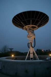 HamTV dish antenna at Goonhilly - Credit Frank Heritage M0AEU