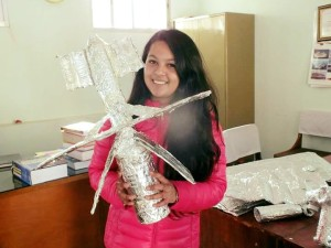 Brihaspati Vidhyasadan students have been building a model of the ISS