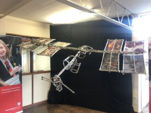 Model of ISS build by young women at Sandringham School