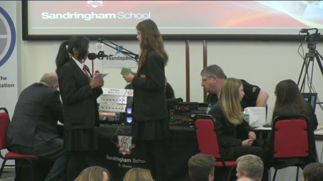 Sandringham students talk to Tim Peake on the International Space Station