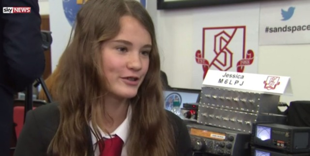 Sky News interview Year 10 pupil Jessica Leigh M6LPJ