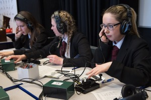 Oasis Brightstowe students learning about radio communications in preparation for ARISS contact - Credit UK Space Agency
