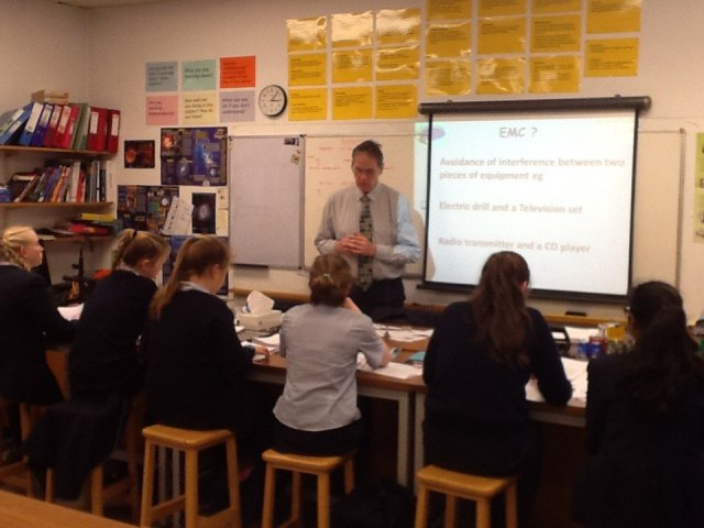 RMS students study for their Amateur Radio Foundation licence - Image Credit RMS