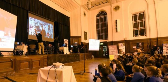 Royal Masonic School for Girls amateur radio contact with Tim Peake - Credit UKSA