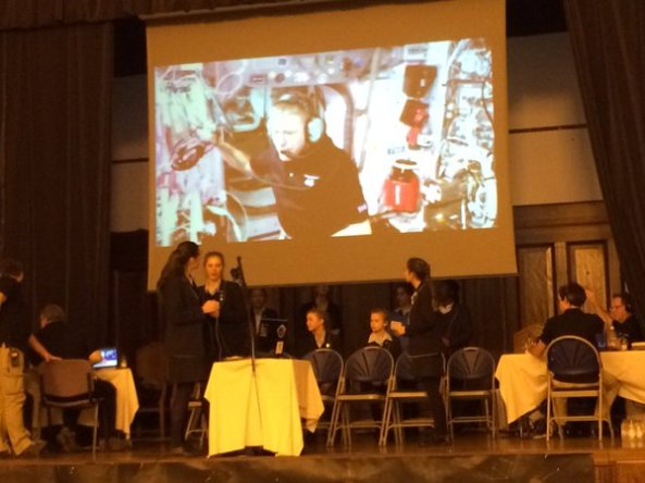 Tim Peake HamTV at Royal Masonic School for Girls - Credit Sian Cleaver