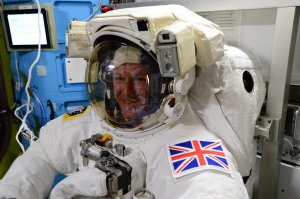 Tim Peake KG5BVI preparing for his spacewalk in January
