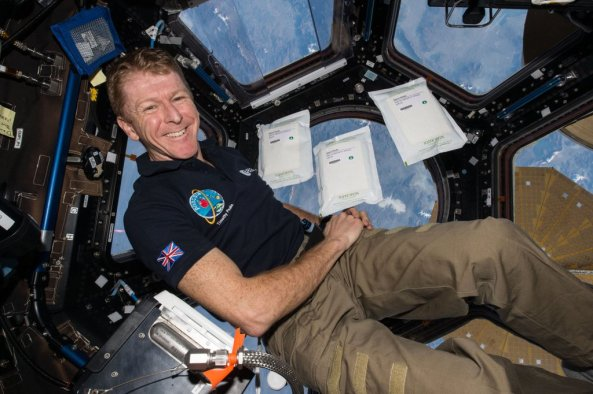 UK astronaut Tim Peake KG5BVI GB1SS in the ISS Jan 2016