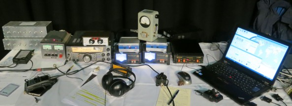 Amateur radio equipment used for ARISS Tim Peake GB1SS contacts - Credit Phil Crump M0DNY